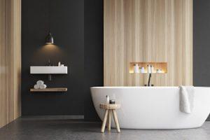 Sanitär, schönes neues Badezimmer in Stuttgart.