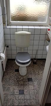 Sanierung altes kleines Bad in Raum Stuttgart.