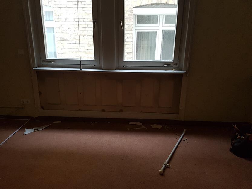 Altbausanierung Boden, Wände und Fenster.