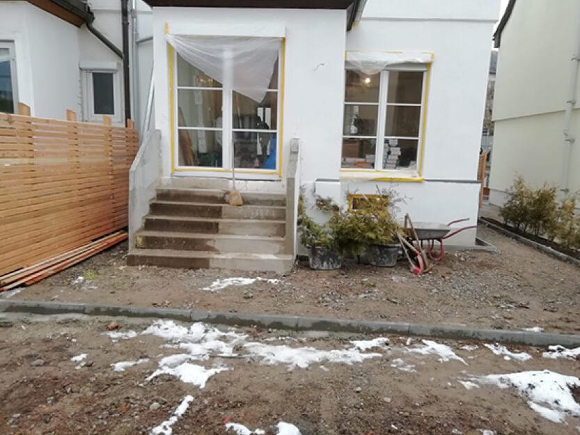 Haus renovieren lassen, neuer Aussenbereich.