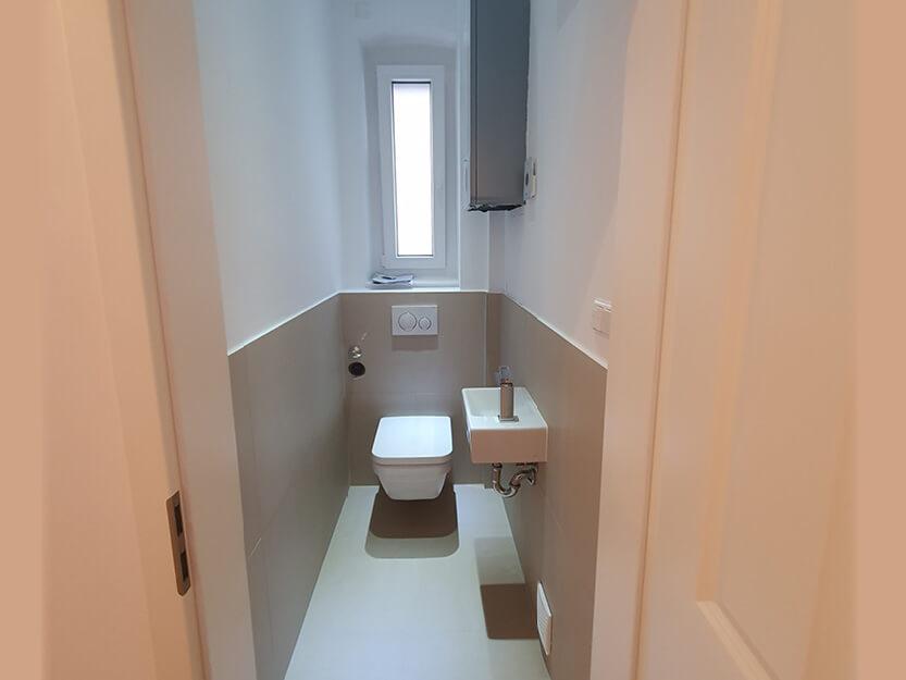 Wohnung komplett renovieren lassen, neues Gäste WC.